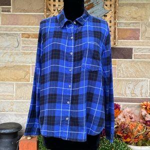 SO Plaid Cotton Flannel Shirt